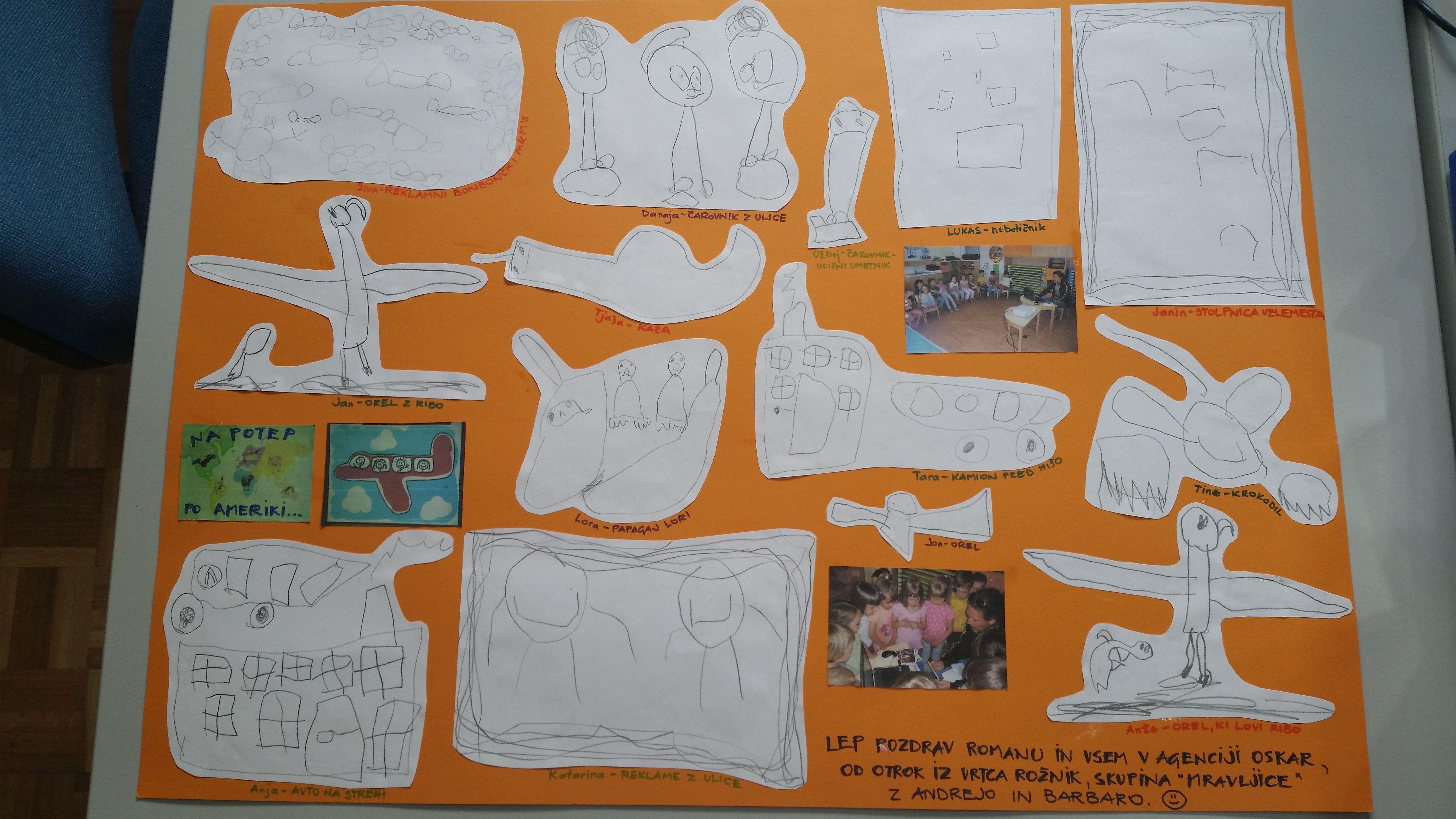 V zahvalo so nam otroci iz vrtca s pomočjo vzgojiteljic izdelali plakat.