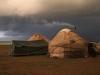 Kirgiške jurte ob jezeru Song Kul
