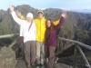 Madeira-Pico Do Arieiro, Sara, Nejc, Polona, vodniki z iskricami v očeh na vrhu