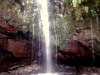 Madeira-Rabacal, 25-fontes, modri tolmun s slapom na koncu naše poti