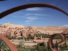 Pogled na Unescovo puščavsko mestece Ait Ben Haddou v maroškem Hollywoodu.