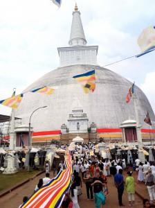 Anuradhapura-čutno vzdušje okoli stupe