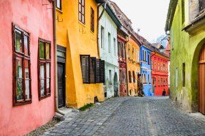 Romunija – Sighisoara – barvne hiše