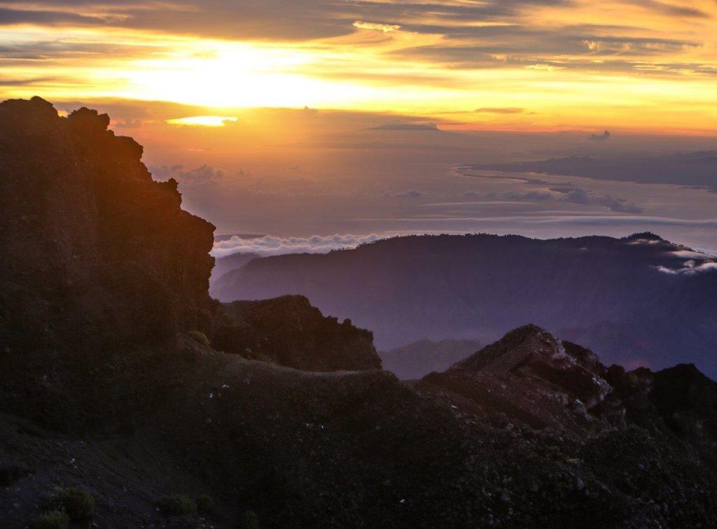 Vulkan Rinjani-zadnji vzpon na vrh