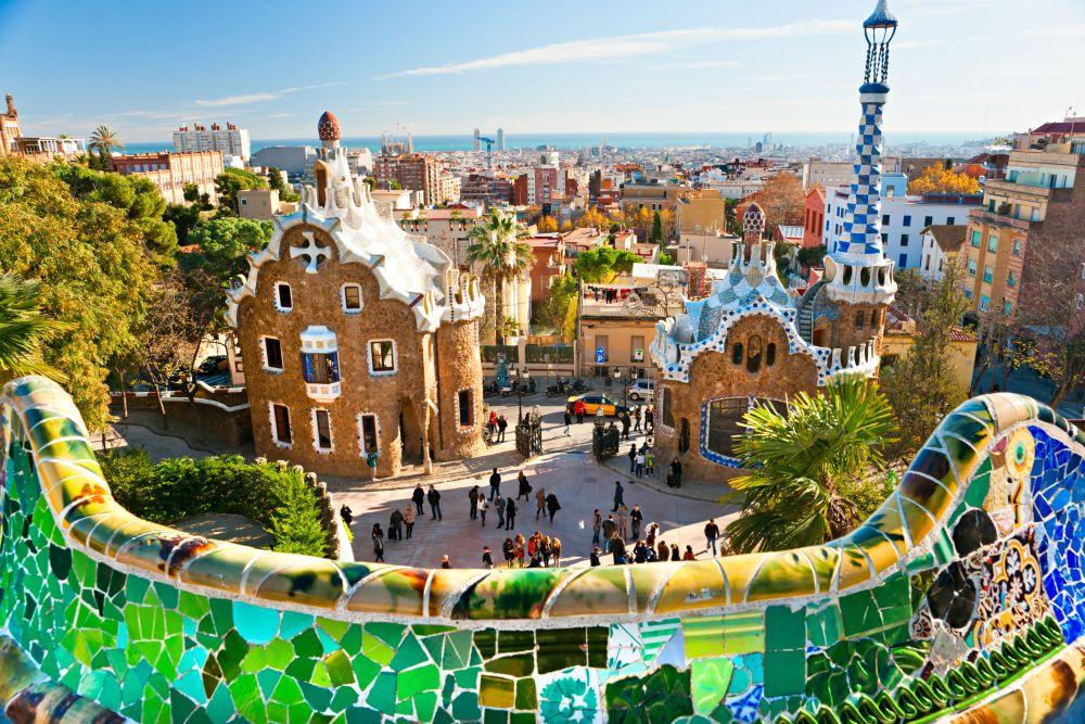 Španija-Barcelona gaudijev park