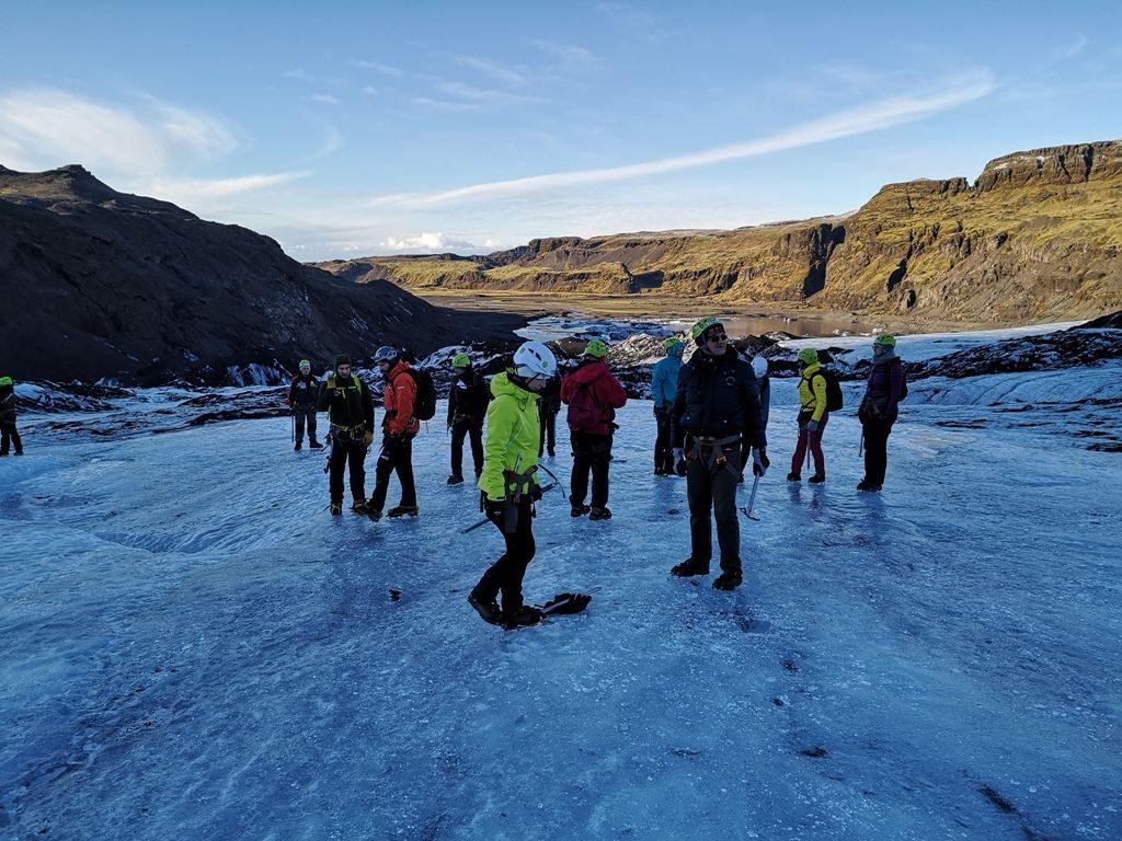Oskarjeva ekipa na obronkih ledenika Solheimajokull