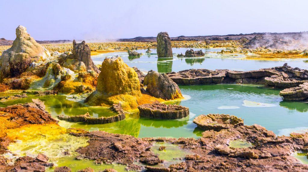 Etiopija-Danakil-jezero Dallol izviri