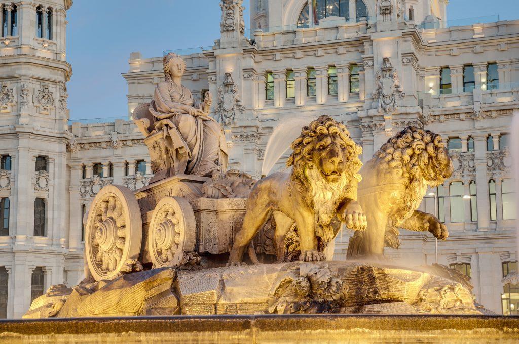 Španija-Madrid-Cibeles vodnjak
