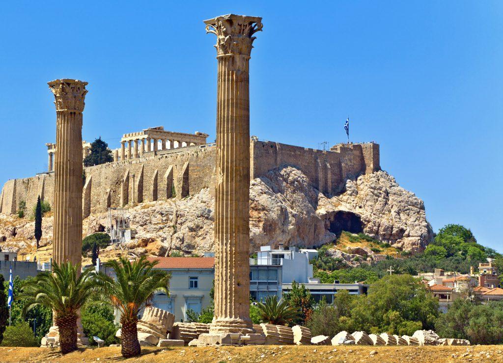 Grčija-Atene-Akropolis-Zeusov tempelj
