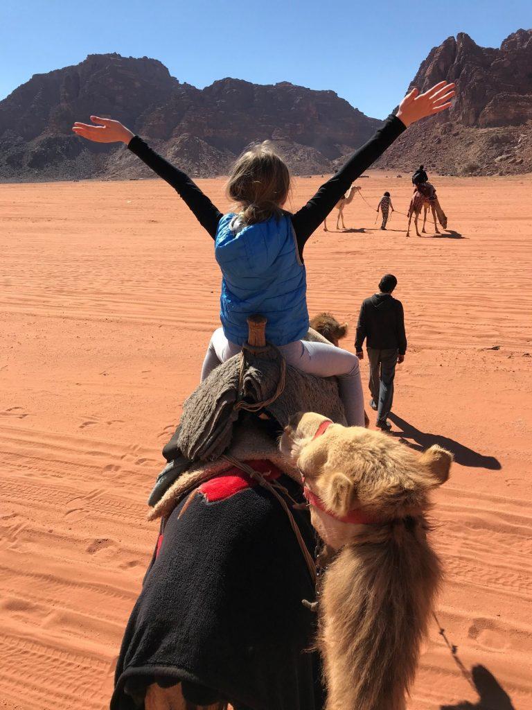 Jordanija-užitek na kameli