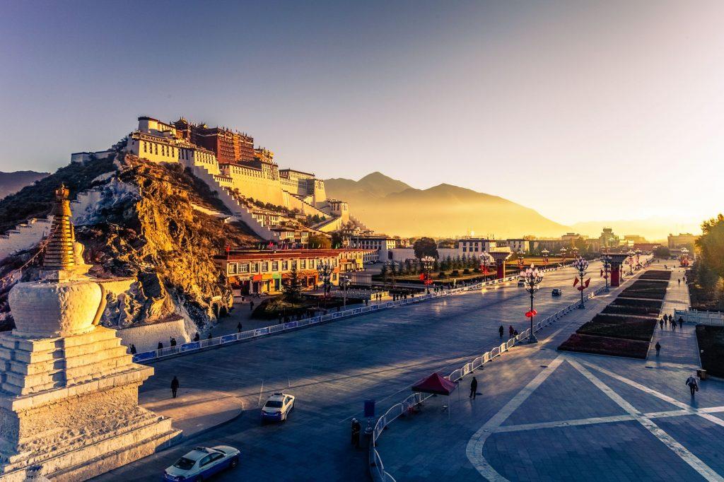 Tibet-Lhasa-palača Potala