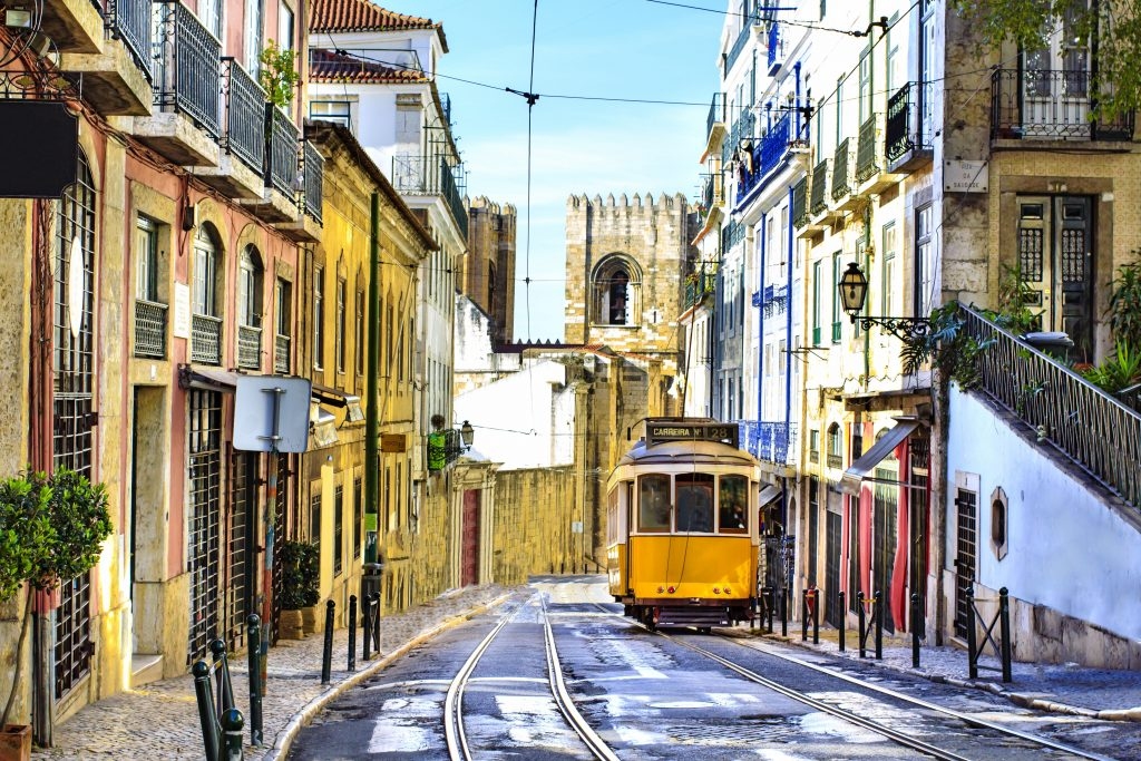 Portugalska-Lizbona-tramvaj