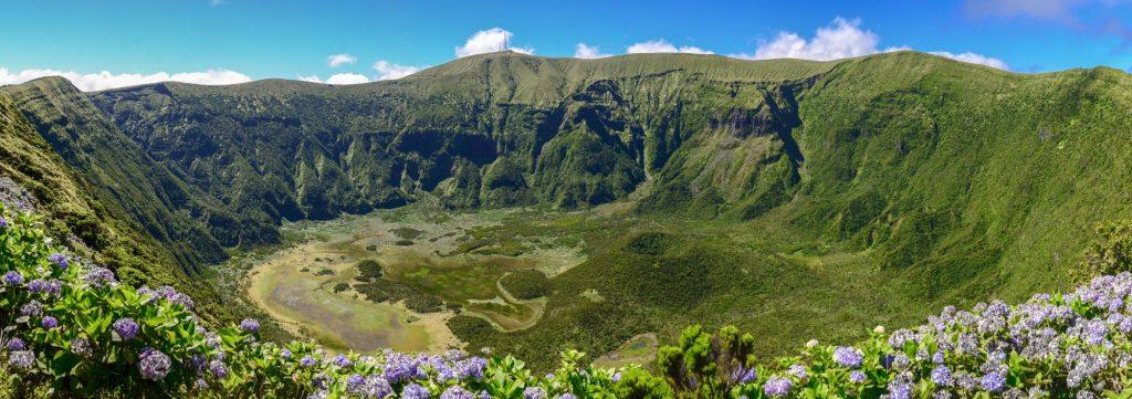 Azori- Faial- krater vulkana