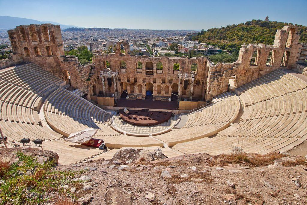 Grčija-Atene-antično gledališče pri Akropolisu