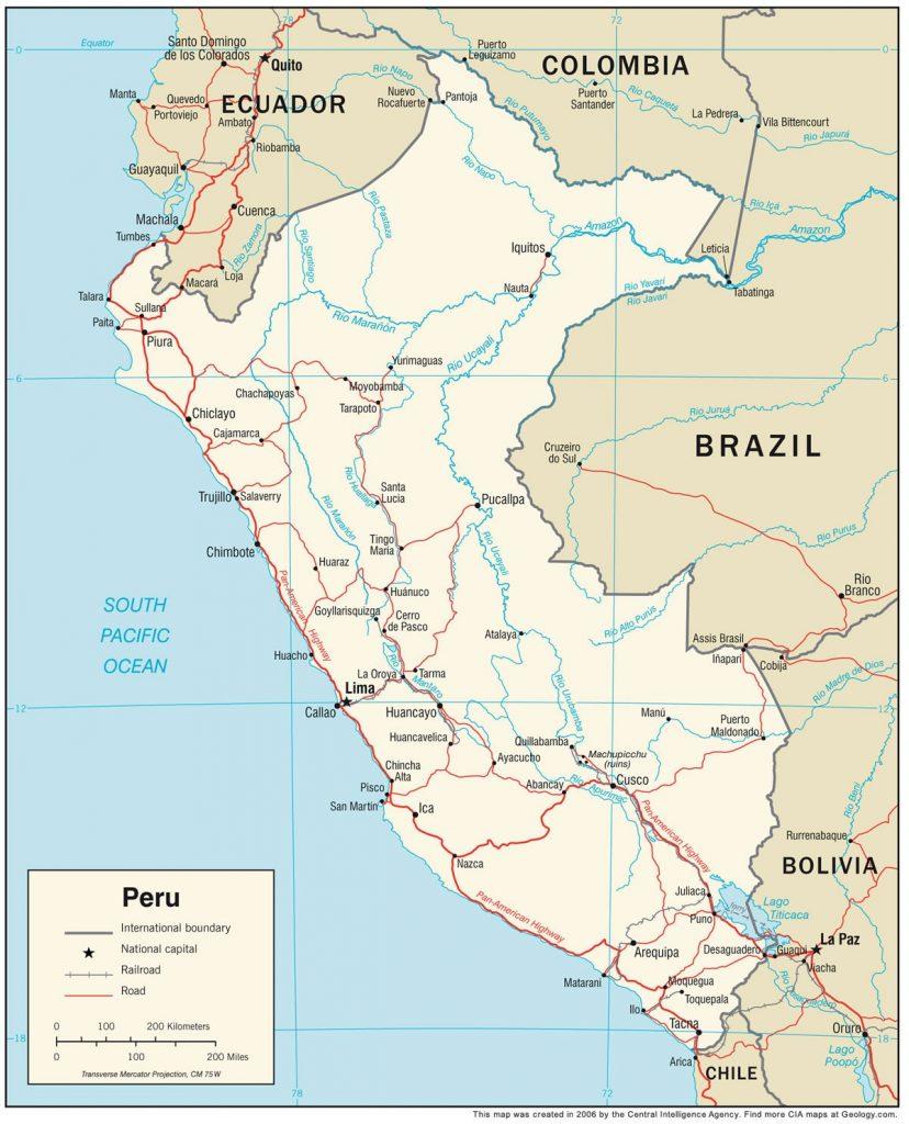 1 zemljevid 828x1024 - Peru - Med potomci Inkov