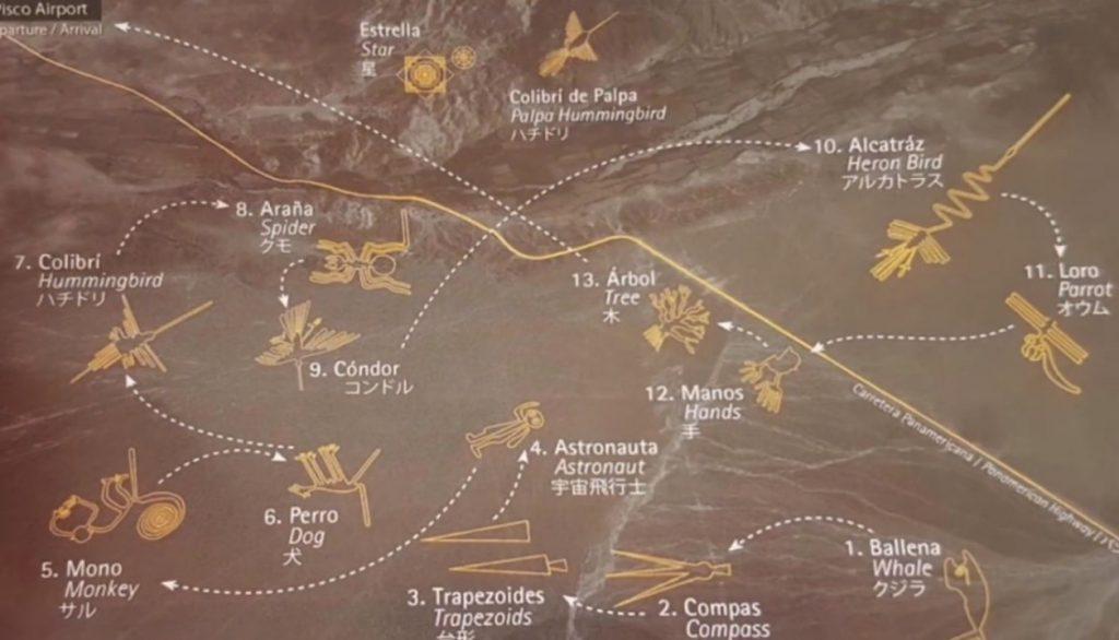 13 Geoglifi so približno razporejeni po črti 50 km ki povezuje mesti Nazca in Palpa v regiji Ica. 1024x586 - Peru - Med potomci Inkov