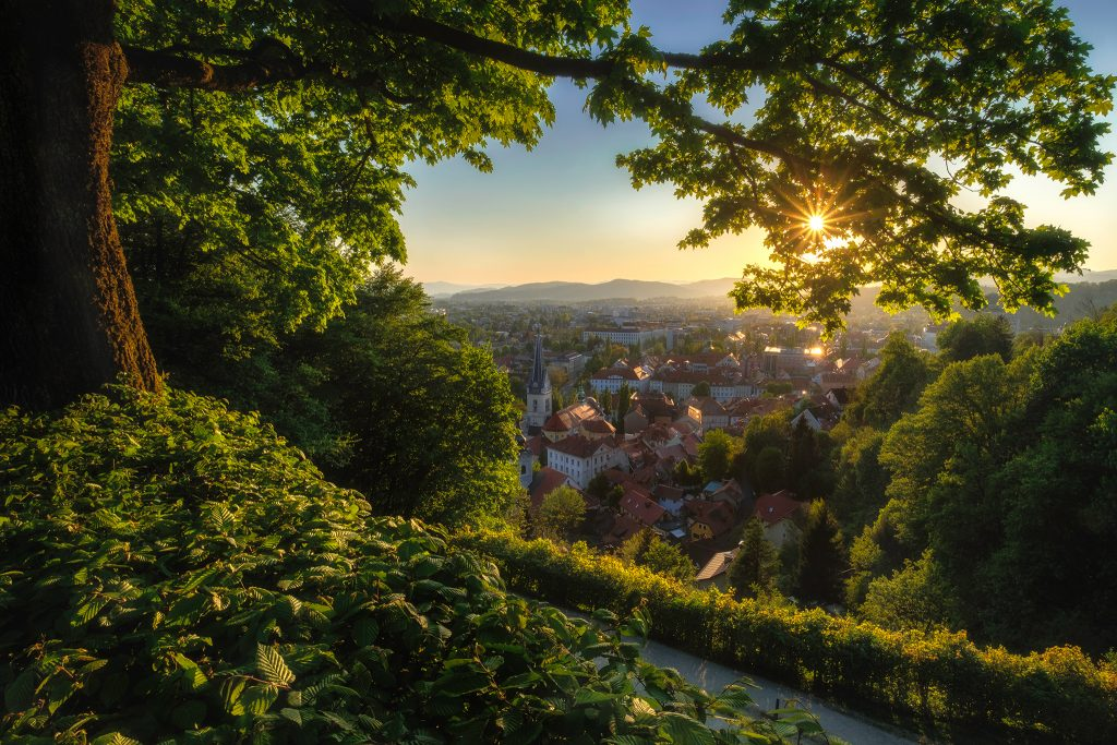 Ljubljana_sunsethill