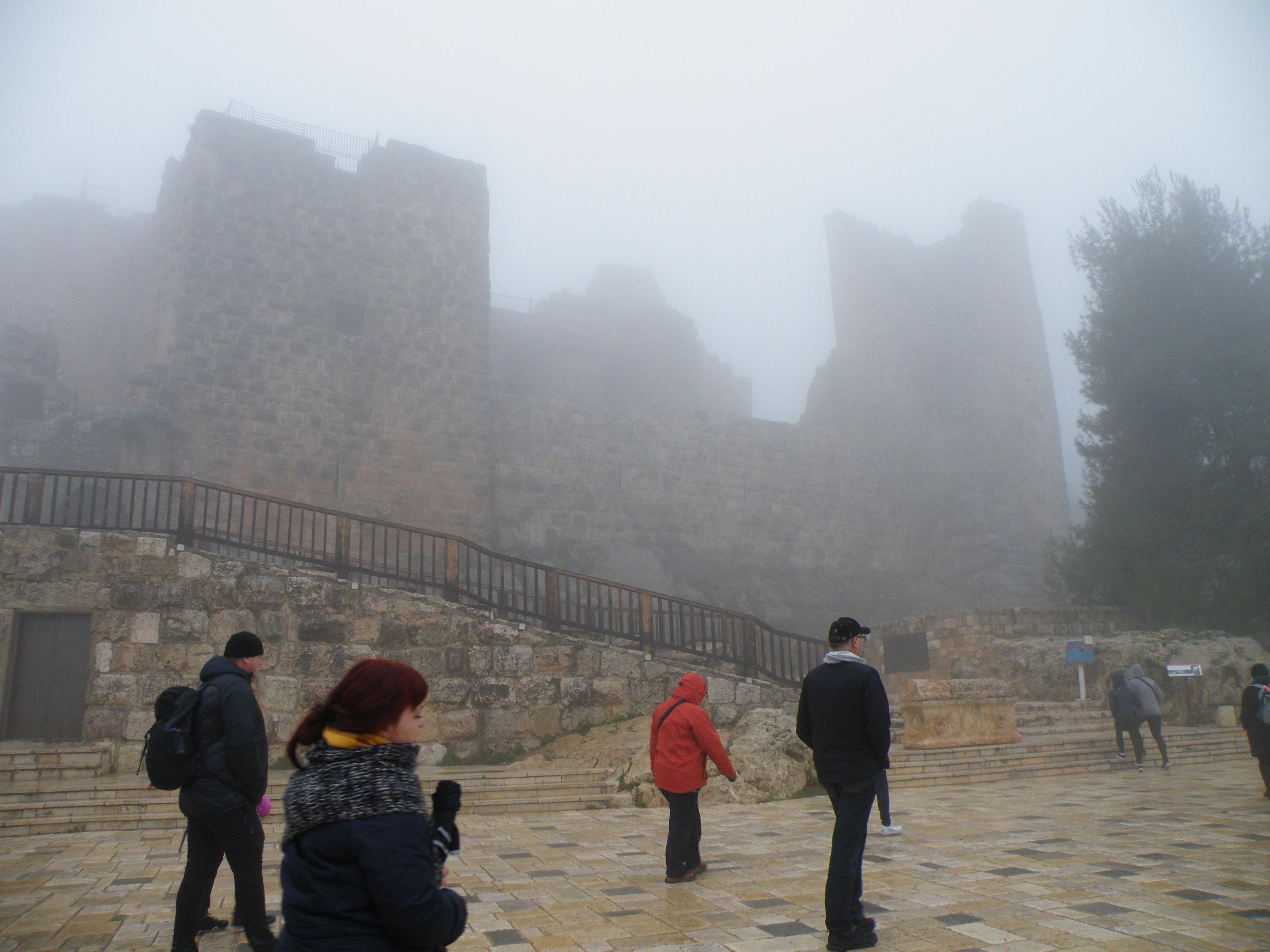 3 - Utrdba Ajloun v gosti megli