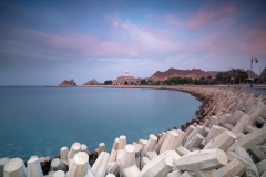 The wavecrushers in the Matrah bay of Muscat, Oman