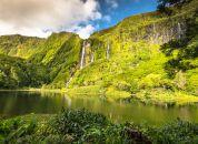 Azori - Flores- slap in jezero