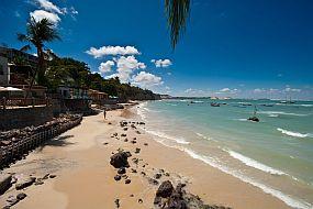 Brazilija-plaža v Praia da Pipa