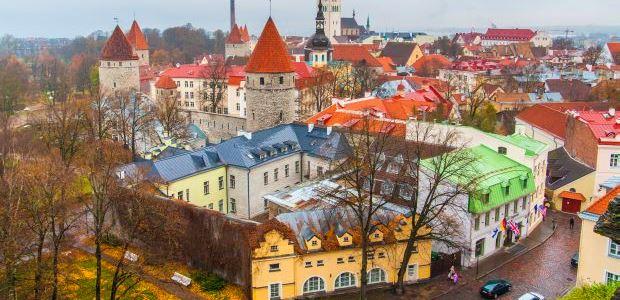 Estonija-Talin-Pogled na stari del mesta