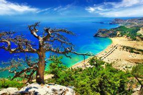 Grčija-Rodos-plaža Tsambika