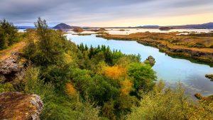 Islandija-jezero Myvatn
