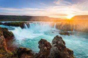 Islandija-slap Godafoss