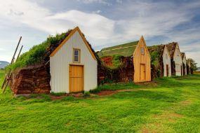 Islandija-Turf hiške