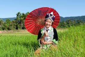 Laos-dekle ljudstva Hmong