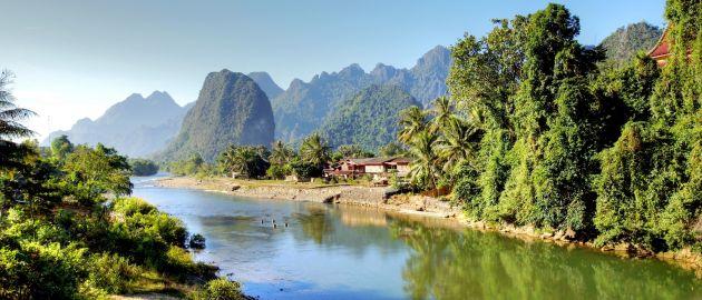 Laos-kraška pokrajina ob reki Song