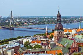 Latvija-Riga-panoramski pogled