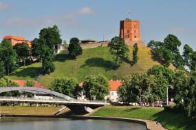 Litva-Vilnius- grič Gediminas z stolpom