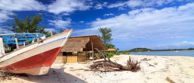 Lombok - Indonezija - Ribiški čoln