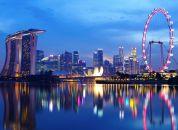 Singapur-večerni pogled