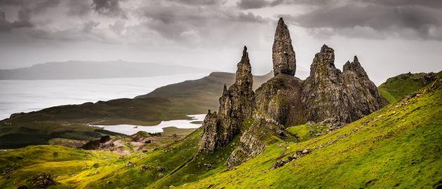 Škotska-Isle of Skye-Old Man of Storr