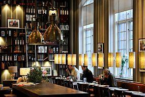 Švedska-Stokholm-kavarna