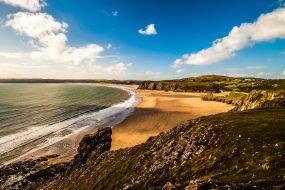 Wales - Gower polotok, zaliv