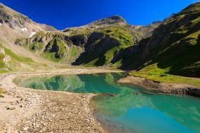 Avstrija - Grossglockner, ledeniško jezero