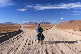 Bolivija, s kolesom