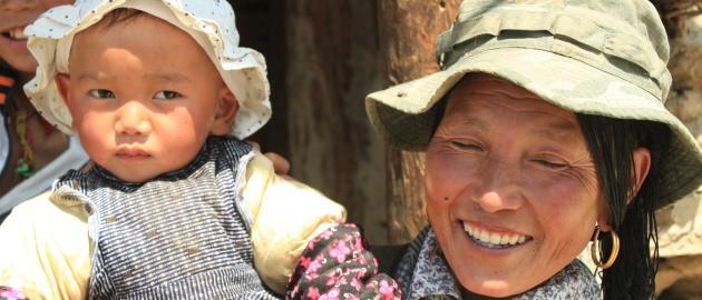 Kitajska-Nasmejani domačini