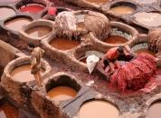 Maroko-Barvanje usnja-mare
