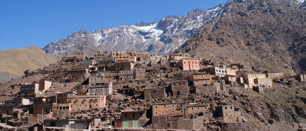 Maroko in vzpon na Toubkal-atlas-berberska-naselbina
