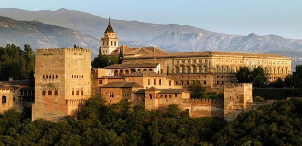 Španija-Pogled na Alhambro