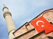 Turčija-Istanbul-Hagia Sophia-zastava-trae
