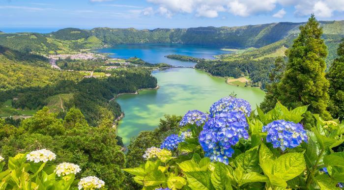 Azori- pogled na jezera Sete Cidades