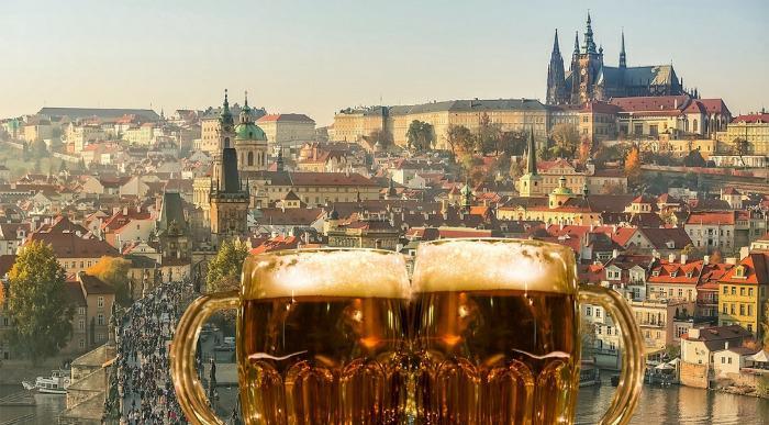 Češka-Praga-pivo panorama