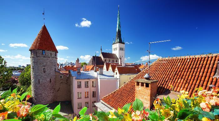 Estonija - Tallinn - staro mesto poleti