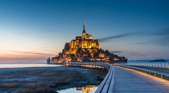 Francija-Mont St. Michel-most z gradom(mrak)_438000292